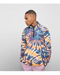 Stussy - Tie Dye Fleece Mock Sweatshirt - Lyst
