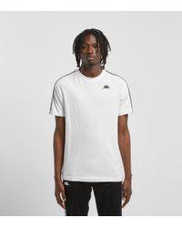 Kappa - Camiseta con tiras del logo en blanco Banda Coen de - Lyst
