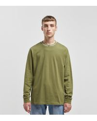 Stussy - Owen Long Sleeved Crew Sweatshirt - Lyst