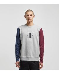 Huf - Crevasse Embroidered Logo Contrast Sweatshirt In Grey - Lyst