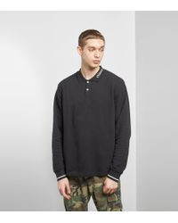 Stussy - Pique Long Sleeved Polo Shirt - Lyst
