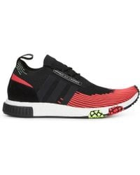 480fe0ccc8baf0 adidas Originals Red And Black Nmd R1 Primeknit Sneakers in Red for ...