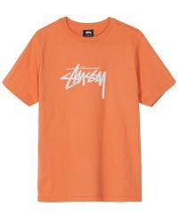 Stussy - Wmns Stock T-shirt - Lyst