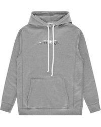 AWAKE NY - Metallic Foil Logo Hooded Sweatshirt - Lyst