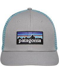 Patagonia - P-6 Logo Trucker Hat Drigter Grey dam Blue - Lyst b5c491dba5d3