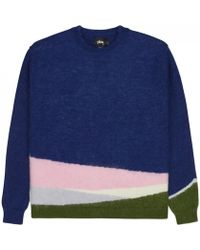 Stussy - Color Bleed Mohair Sweater - Lyst