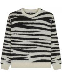 Stussy | Zebra Mohair Sweater | Lyst