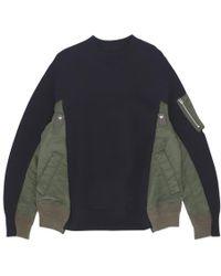 Sacai - Truth Crewneck Sweatshirt - Lyst
