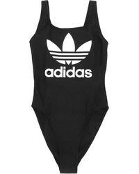 adidas Originals - Wmns Trefoil Swimsuit Black - Lyst