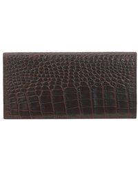 Smythson - Mara Crocodile-emboosed Slim Coat Wallet - Lyst