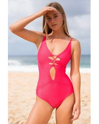 4b4a68651d Acacia Swimwear 2019 Indies One Piece In Retro Paradise in Blue - Lyst