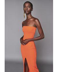 Solace London - Bysha Maxi Dress Tangerine - Lyst