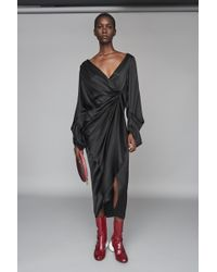 Solace London - Aurora Dress Black - Lyst