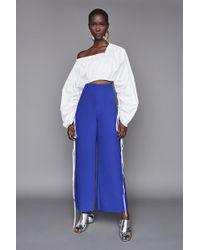 Solace London - Zoya Trousers Blue - Lyst