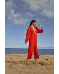 Solace London - Livia Jumpsuit Red - Lyst