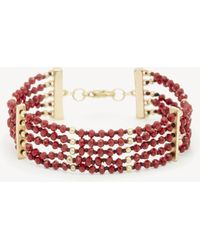 Sole Society - Beaded Line Bracelet - Lyst