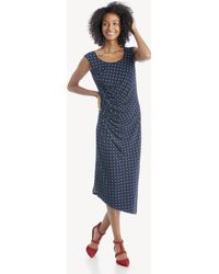 Vince Camuto - Cap Sleeve Romantic Dots Side Ruched Dress - Lyst