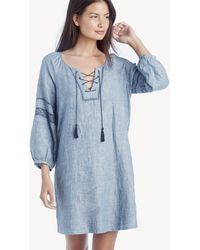 ab58b41002 Lyst - Sanctuary Mirabelle Linen Shift Dress in Blue