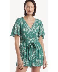 4b5e11c4d6f9 Greylin - Colette Floral Tie-waist Romper - Lyst
