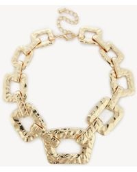Sole Society - Textured Oversized Chain Necklace - Lyst