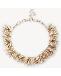 Sole Society - Pearl Cluster Statement Necklace - Lyst