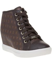 DKNY - Cindy Sneaker Wedge Trainers - Lyst