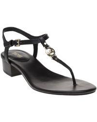 MICHAEL Michael Kors Natural Cayla Mid Leather Sandals