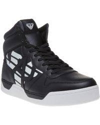 Armani Jeans - High Top Trainers - Lyst
