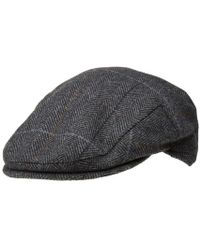 Barbour - Charcoal Country Check Flat Cap - Lyst