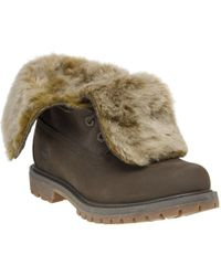 Timberland - Authentic Faux Fur Roll Down Boots - Lyst