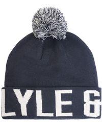 Lyle & Scott - Bobble Logo Beanie - Lyst
