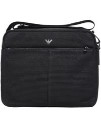 Armani Jeans - Woven Messenger Shoulder Bag - Lyst