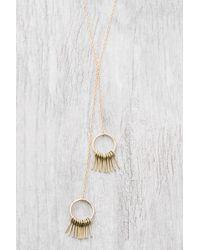 South Moon Under - Fringe Hoop Lariat Necklace - Lyst