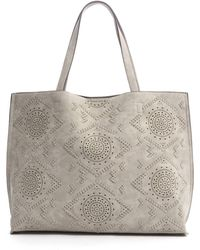 Triple 7 - Embroidered Perforated Tote - Lyst