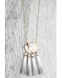 South Moon Under - Long Pendant Necklace With Stone And Tassels - Lyst