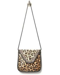 South Moon Under - Leather Leopard Embroidered Crossbody Bag - Lyst