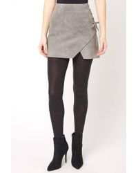 2618e9bd3f South Moon Under French Grey Suede Mini Skirt in Gray - Lyst