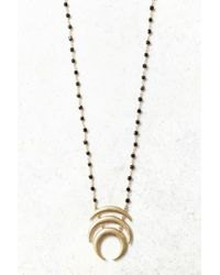 South Moon Under - Three Crescent Pendant Necklace - Lyst