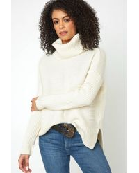 South Moon Under - High Low Turtleneck Sweater - Lyst
