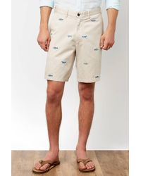 South Moon Under - Cisco Shark Embroidered Short - Lyst