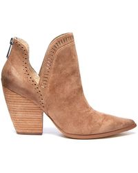 South Moon Under - Nicola Perforated Cut Out Heel Bootie - Lyst