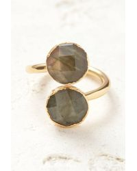 South Moon Under - Labradorite Two Circle Open Ring - Lyst