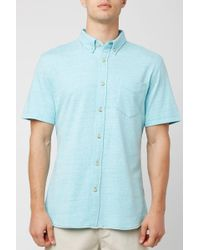a92e1e016d South Moon Under - Rive Blue Heather Collared Button Down Shirt - Lyst