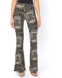 South Moon Under - Olive Paisley Fit & Flare Pant - Lyst