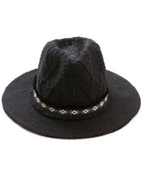 South Moon Under - Sweater Knit Fedora - Lyst