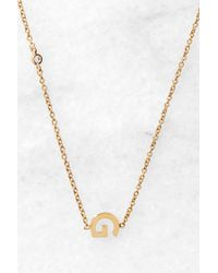 Tai - Gold Alphabet Necklace G - Lyst