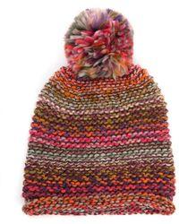 South Moon Under - Multi Yarn Knit Hat With Pom Beanie - Lyst
