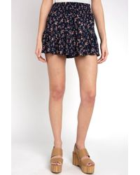 South Moon Under - Floral Tiered Ruffle Soft Short - Lyst