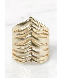 Tai - Gold Liv Cockl Ring - Lyst