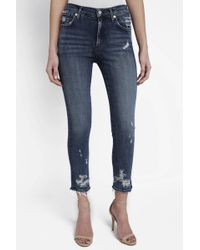 South Moon Under - Sophie Paradox Crop Jean - Lyst